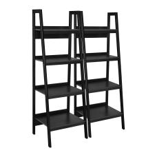 Ameriwood Home Ladder Bookcases Black Set