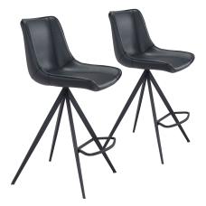 Zuo Modern Aki Counter Chairs Black