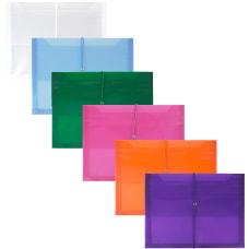JAM Paper Letter Booklet Plastic Envelopes