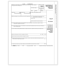 ComplyRight 1098 C Tax Forms Donee