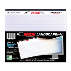 WIDE Landscape Format Writing Pad MediumCollege