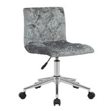 Glamour Home Amali Office Chair Silver