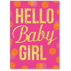 Viabella New Baby Girl Greeting Card