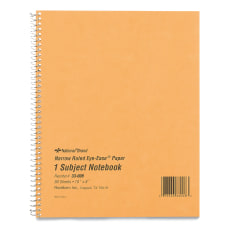 Rediform One Subject Narrow Ruled Notebook
