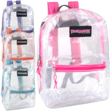 Trailmaker Girls Clear Backpacks Assorted Colors