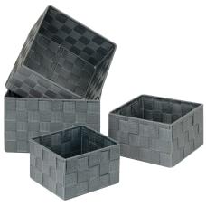 GNBI 4 Piece Woven Cube Set