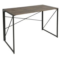 Lumisource Dakota Industrial Office Desk BlackBrown