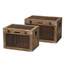 Baxton Studio Spindle Storage Trunk Set