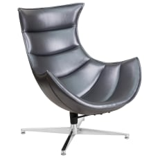 Flash Furniture Cocoon Swivel Chair GraySilver