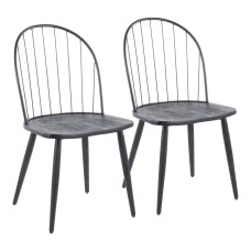 LumiSource Riley High Back Chairs Black