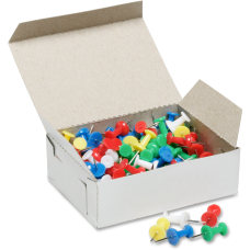 SKILCRAFT Color Pushpins Assorted Colors Box