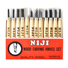 Yasutomo Niji Woodcarving Tools Set Of