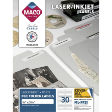 Maco Assorted LaserInkjet File Folder Labels