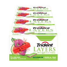 Trident Layers Watermelon And Tropical Fruit