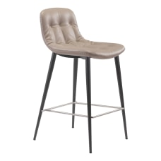 Zuo Modern Tangiers Counter Chairs Taupe