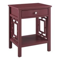Linon Walsh 1 Drawer End Table