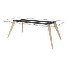 Lorell 72 W Rectangular Conference Table