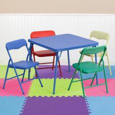 Flash Furniture Kids Colorful Folding Square