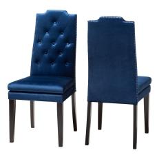 Baxton Studio Armand Chairs Navy Blue