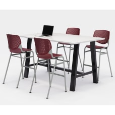 KFI Midtown Bistro Table With 4