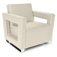 OFM Distinct Series Lounge Chair CreamChrome
