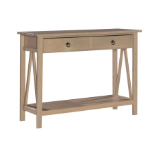 Linon Rockport Rustic Console Table Rectangle