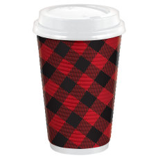 Amscan Christmas Hot Cups With Lids