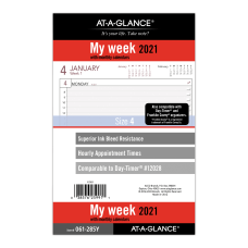 AT A GLANCE Weekly Planner Refill