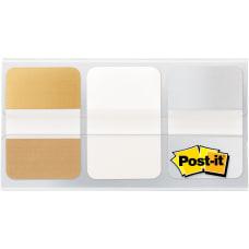 Post it Metallic Color Tabs 12
