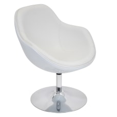 LumiSource Saddlebrook Lounger Chair WhiteSilver
