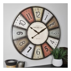 FirsTime Co Color Motif Wall Clock