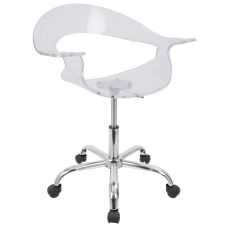 Lumisource Rumor Office Chair ClearChrome