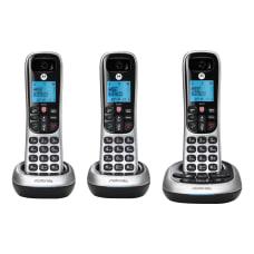 Motorola CD4013 3 Handset Cordless Telephone