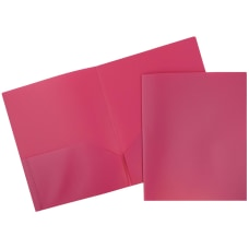 JAM Paper Plastic 2 Pocket POP
