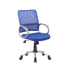 Boss Mesh Back Chair Blue Mesh
