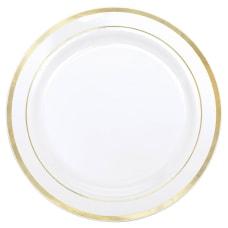Amscan Plastic Plates 10 14 WhiteGold