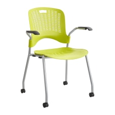 Safco Sassy Guest Chairs Grass GreenSilver