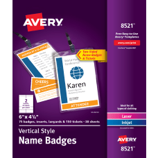 Avery Vertical Name Badge Kit 6