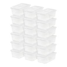 IRIS Plastic Storage Containers 6 Quarts