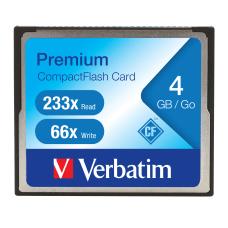 Verbatim 4GB 233X Premium CompactFlash Memory