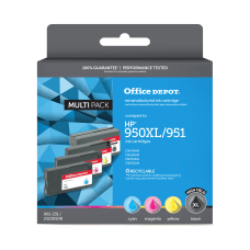 Office Depot Brand ODHP950XLK951CMY Remanufactured Black