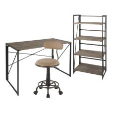 LumiSource Dakota Desk Set BlackBrownAntiqueCamel