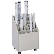Safco Mobile Roll File 20 Compartments