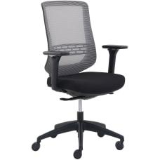 Lorell Swap Midback Mesh Chair Black