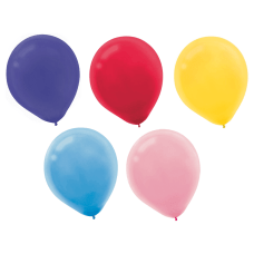 Amscan Glossy Latex Balloons 9 Assorted