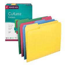 Smead CutLess Color File Folders Letter