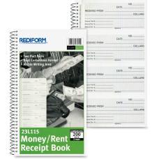 Rediform MoneyRent Unnumbered Receipt Book 200
