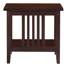 Linon Thrombrey End Table With Shelf