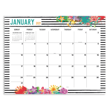 TF Publishing Monthly Desk Pad Calendar