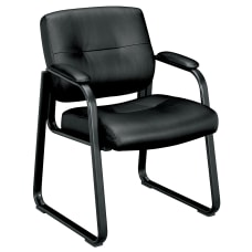 HON SofThread Bonded Leather Guest Chair